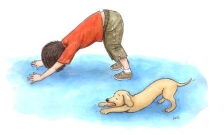 Illustration by Kathleen Rietz and excerpted from The ABCs of Yoga for Kids